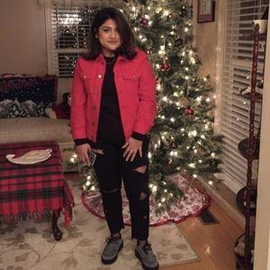 H&M Red Jean Jacket